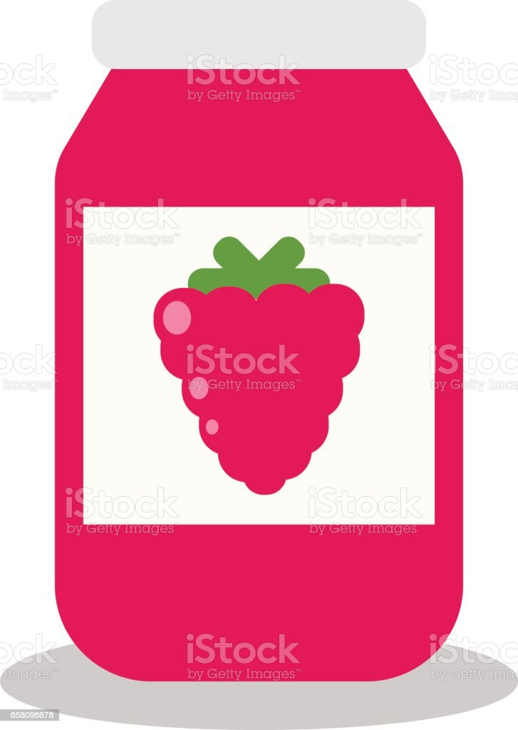 jar with fruit and berry jam royalty-free jar with fruit and berry jam stock vector art & more images of backgrounds