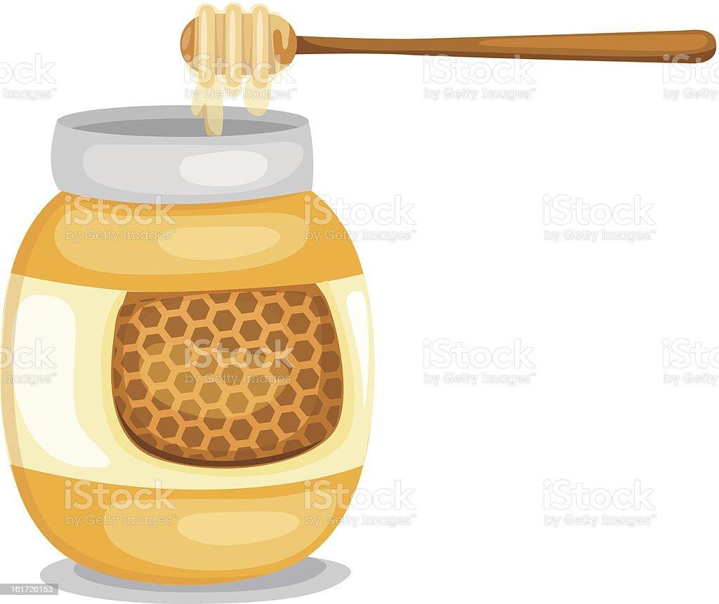 Gefäß mit Honig – Vektorgrafik