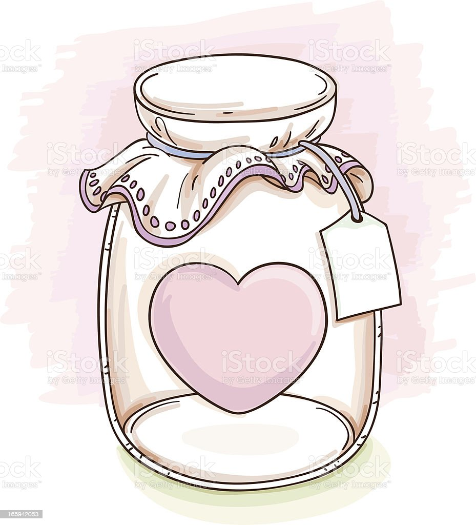 Jar with love illustration royalty-free jar with love illustration stock vector art & more images of bottle