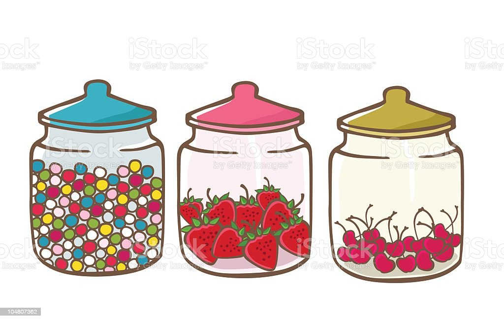 Jars of Sweets royalty-free jars of sweets stock vector art & more images of bubble gum