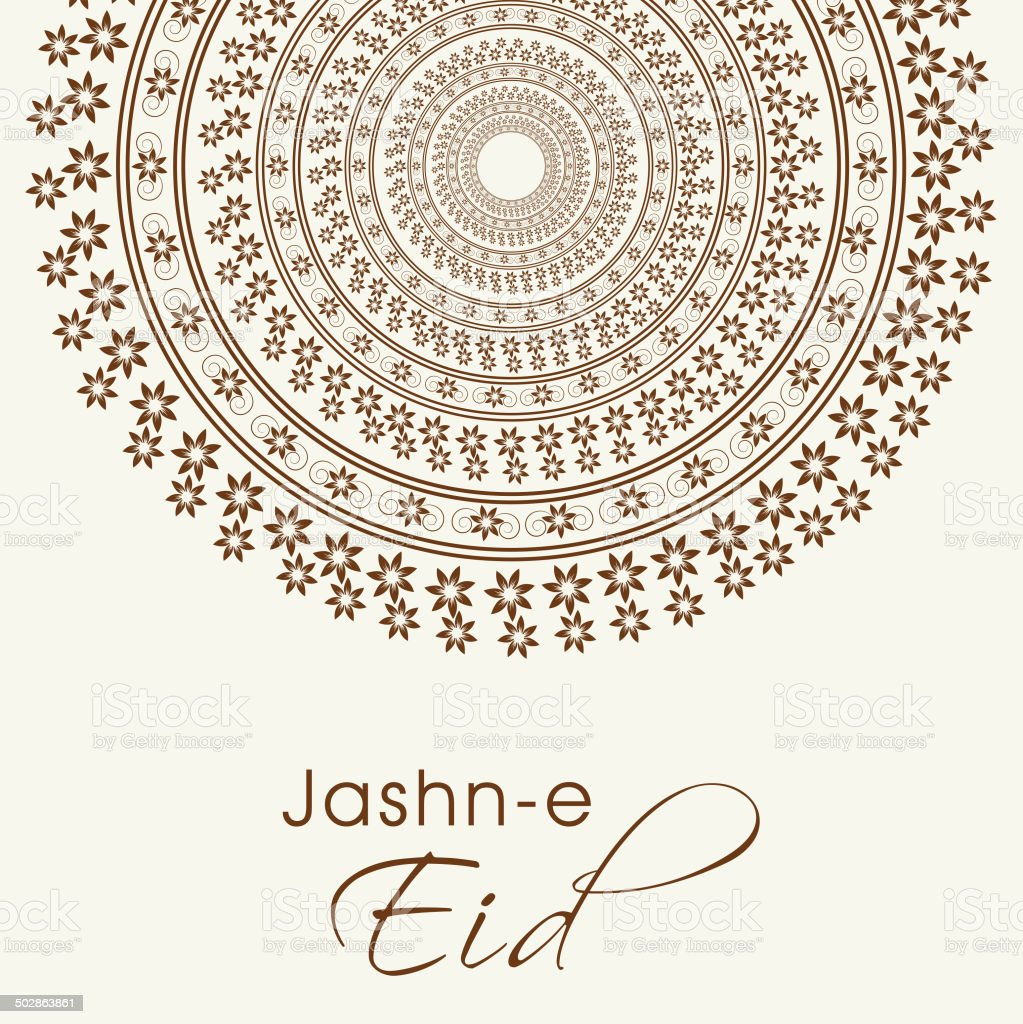 Jashneeid greeting card design decorated with beautiful floral jashn e eid greeting card design decorated with beautiful floral royalty free kristyandbryce Image collections