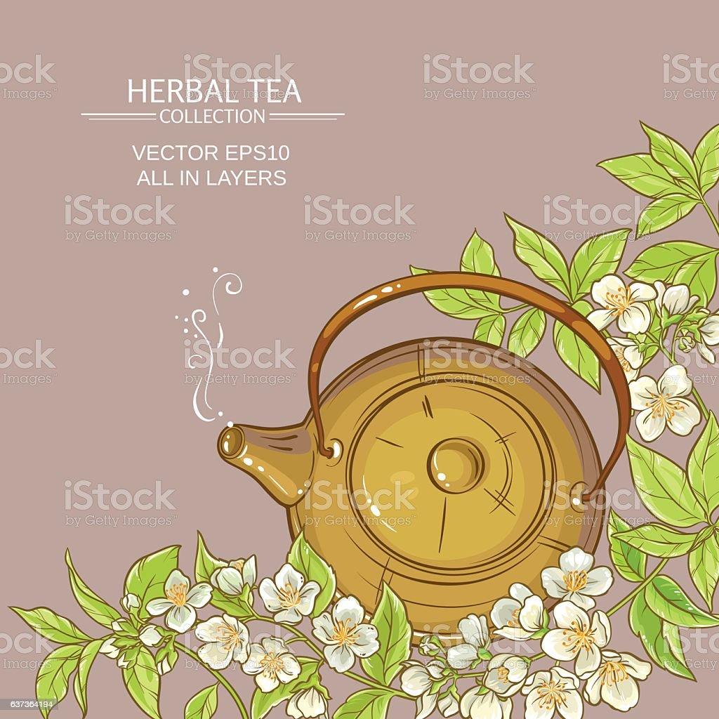 jasmine tea vector  background vector art illustration