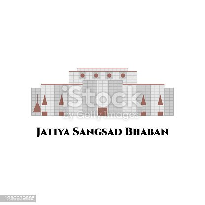 istock Jatiya Sangsad Bhaban or National Parliament House. It is the house of the Parliament of Bangladesh. The largest legislative complexes in the world. Impressive architectural building 1286639885