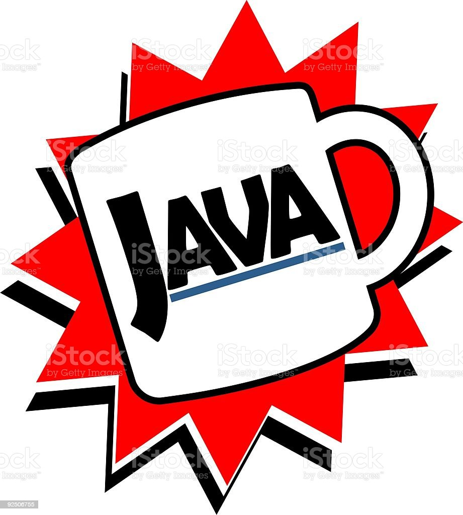 Java Coffee Mug royalty-free java coffee mug stock vector art & more images of black color