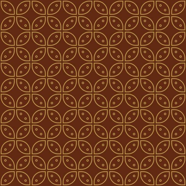 stockillustraties, clipart, cartoons en iconen met javaanse batik naadloze patroon vector - batik