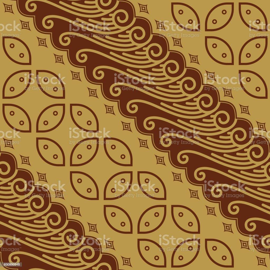 Javanese Batik Seamless Pattern Vector Stock Illustration