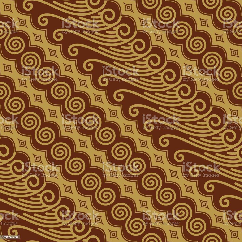 Javanese Batik Seamless Pattern Vector vector art illustration