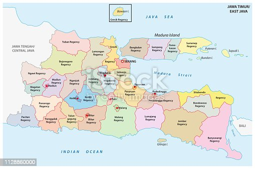 Bali Island Map Road Map Does Not Add Line Drawing
