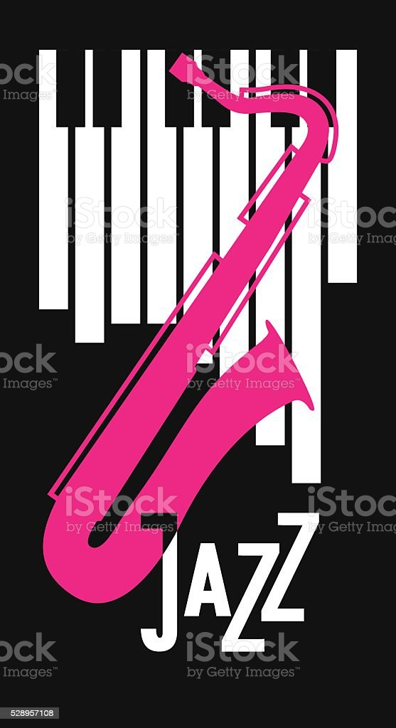 jazz and blues festival poster vector art illustration
