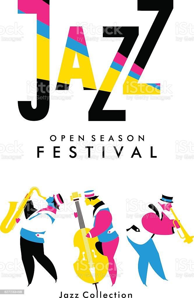 Jazz and Blues Festival vektör sanat illüstrasyonu