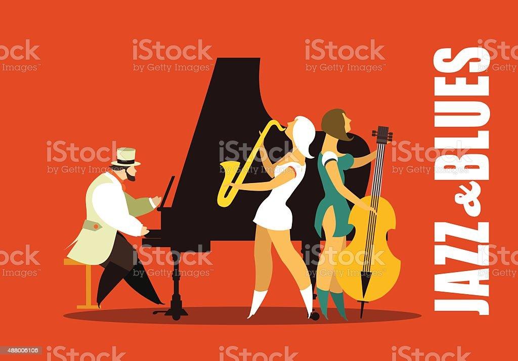 De jazz et de blues - Illustration vectorielle