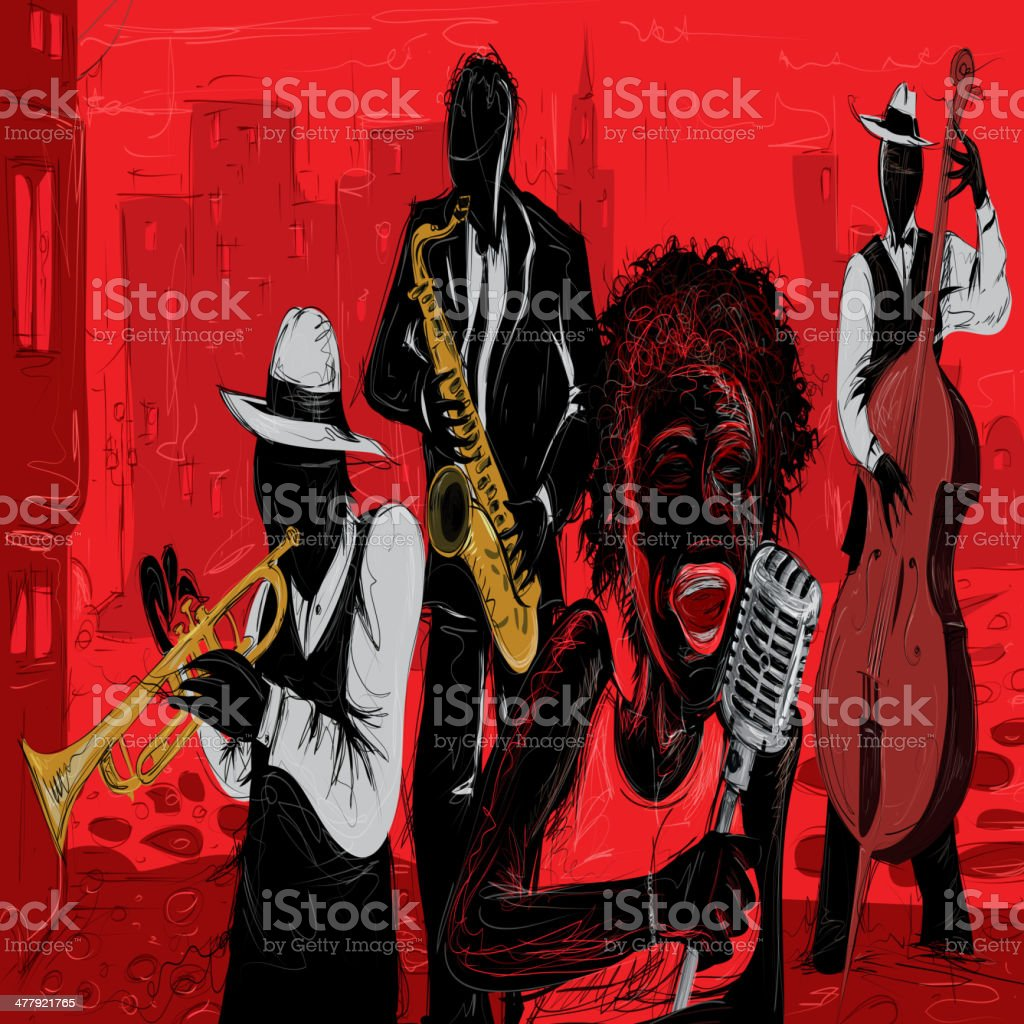 Jazz Art Vector vektör sanat illüstrasyonu