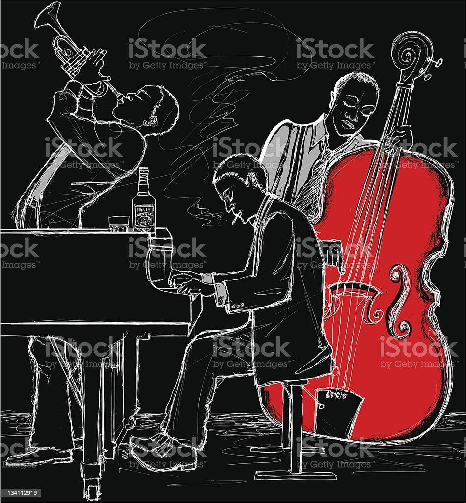 Jazz band vector art illustration