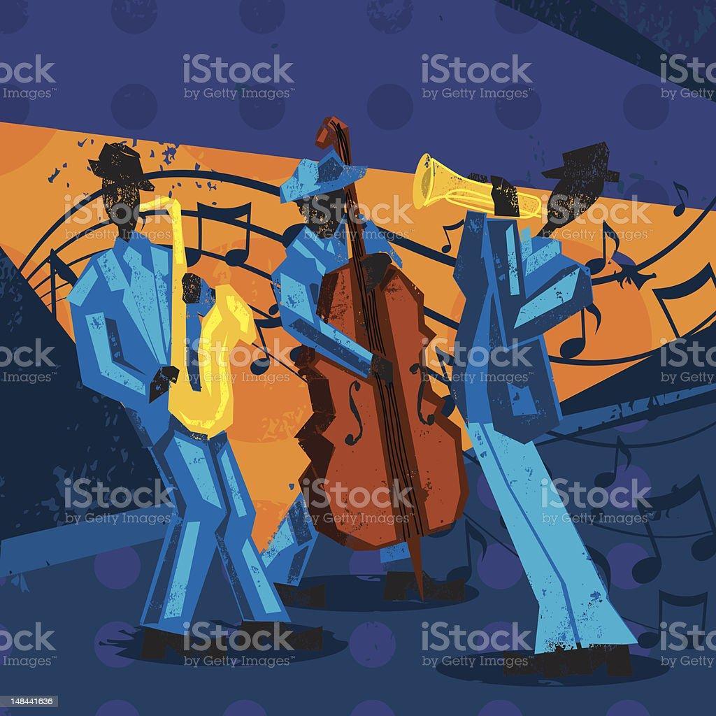 jazz band vektör sanat illüstrasyonu