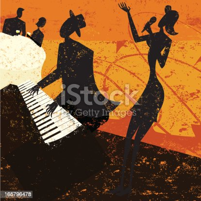 istock Jazz club singer 165796478