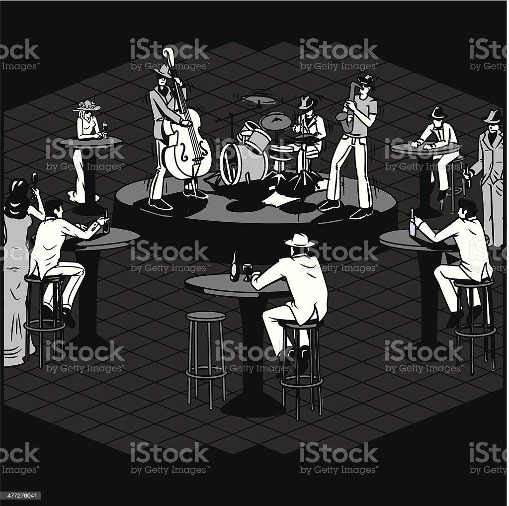 Jazz Club royalty-free stock vector art