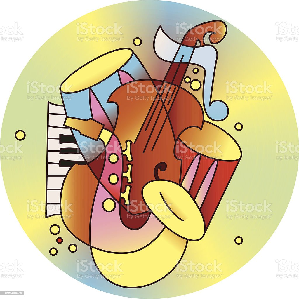Jazz composition royalty-free stock vector art