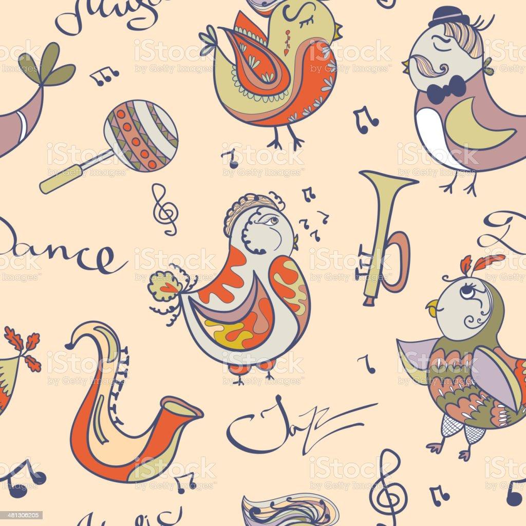 ジャズコンセプトの壁紙ます 鳥の歌とダンス まぶしいのベクターアート素材や画像を多数ご用意 Istock