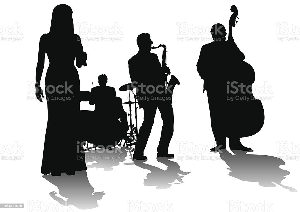 Jazz concert vector art illustration