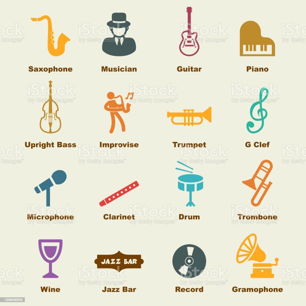jazz elements vector art illustration