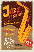 Vector illustration of a Jazz festival night poster design template. Fully editable and scalable.
