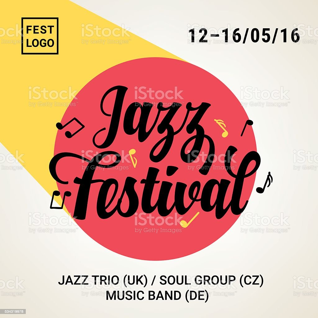 Ilustración de Festival De Jazz De Cartel Ideal Para Eventos De ...