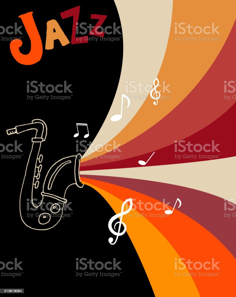 Jazz festival poster template. vector art illustration