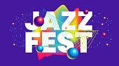 Jazz festival text design