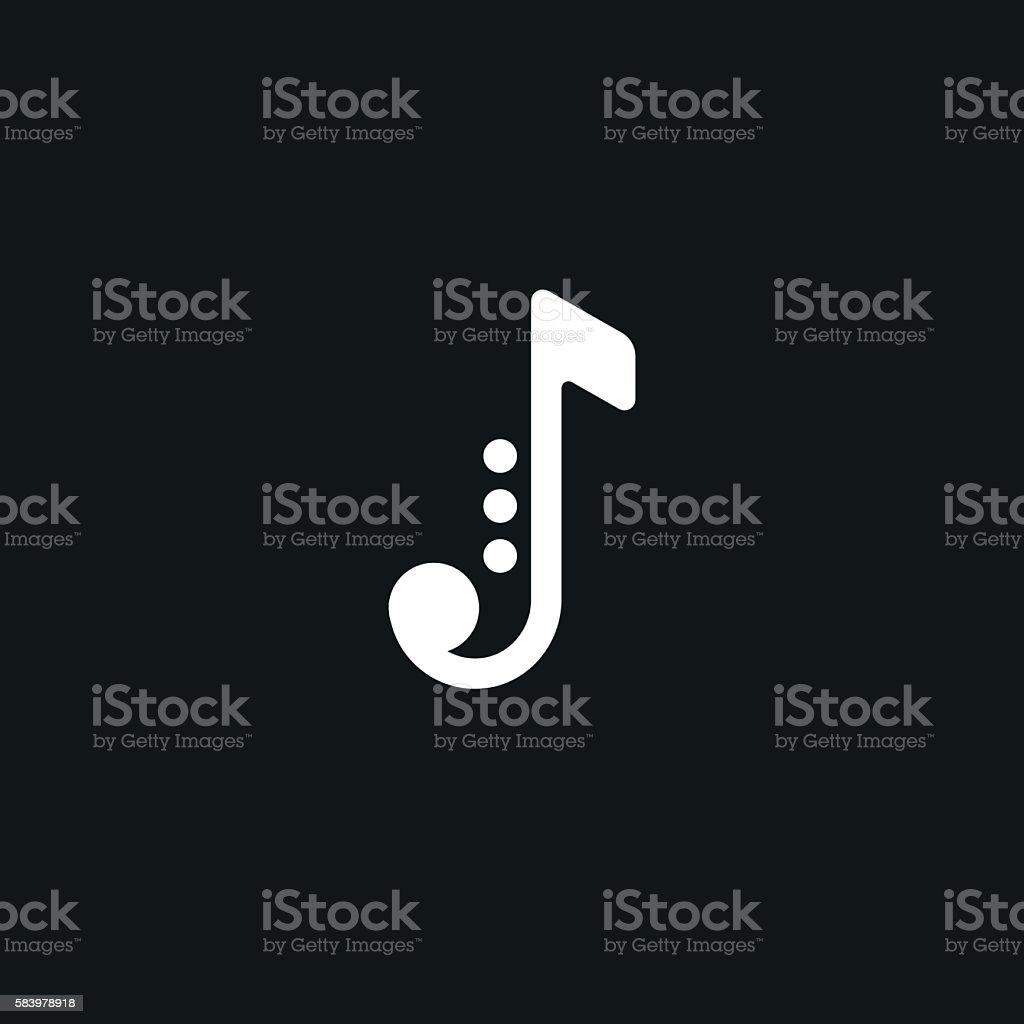 Jazz logo on black background. vector art illustration