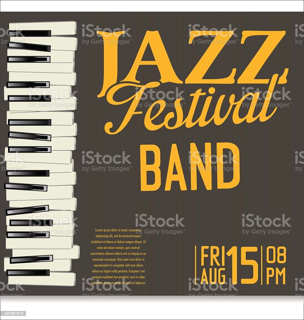 Jazz music background vector art illustration