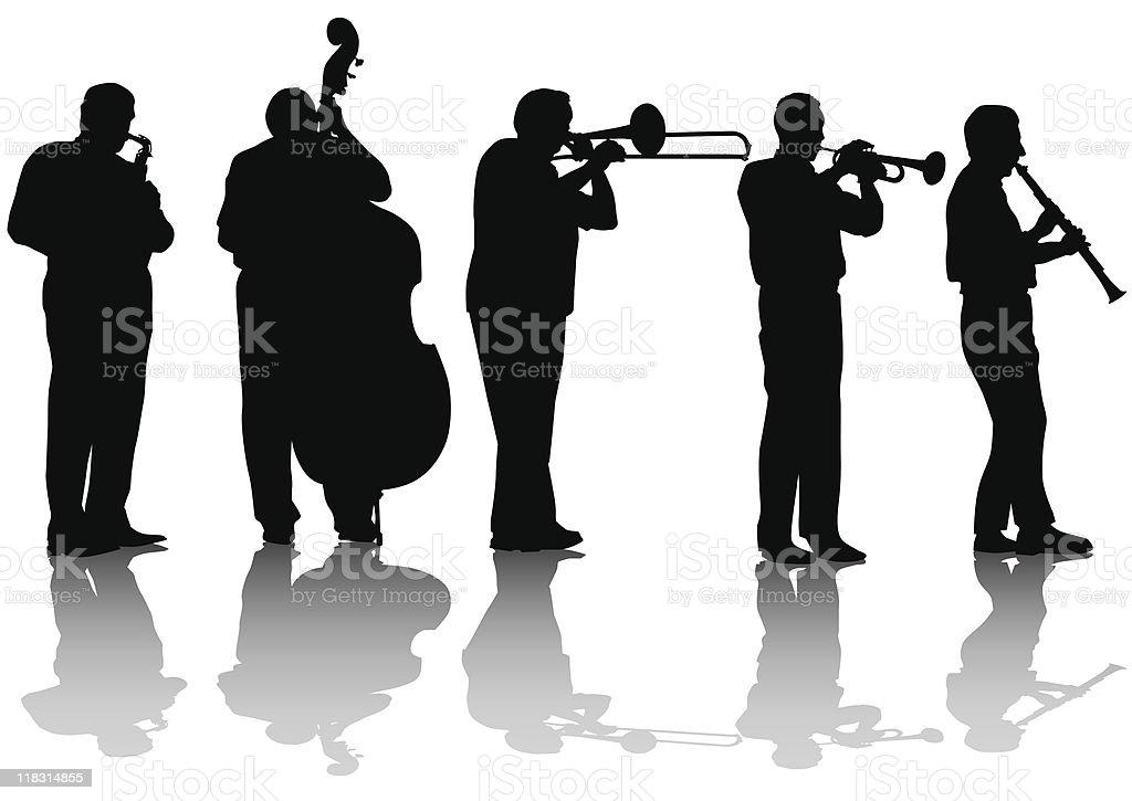 Jazz music concert vector art illustration