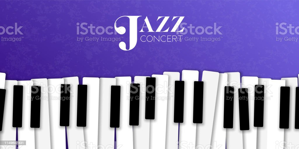 Jazz Music Event Banner With Piano Background Stock Illustration Download Image Now Istock