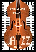 Jazz music festival, poster background template.