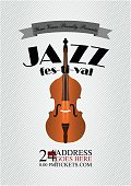 Jazz, rock or blues music poster template. Abstract background for flyer, brochure, banner.
