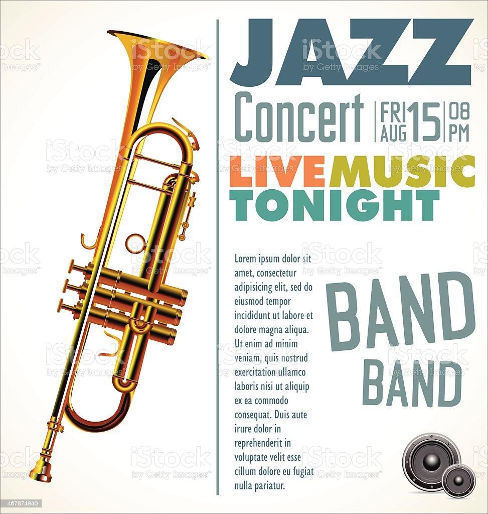 Jazz music festival, poster vector art illustration