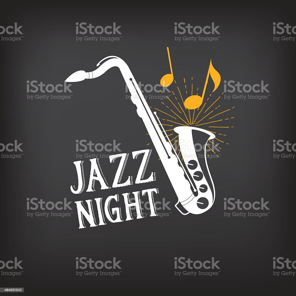 Jazz music party design. vector art illustration