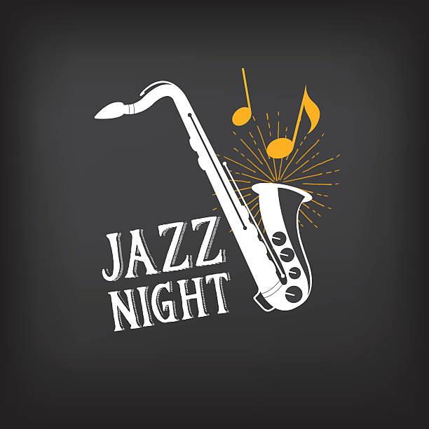 ilustrações de stock, clip art, desenhos animados e ícones de música jazz festa design. - saxofone