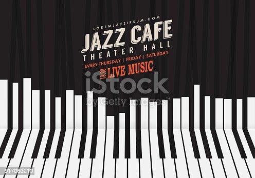 Piano keyboard illustration. Website background, festival event flyer design.