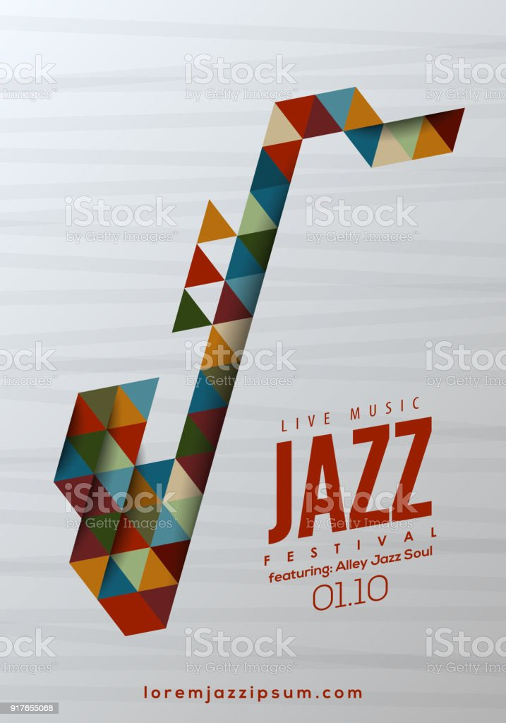 Jazz Music Poster Background Template Royalty Free Stock