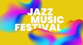 Jazz Music text background design