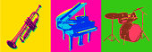 istock Jazz Musical Instrument icons 1211358992
