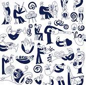 jazz musicians -doodles set
