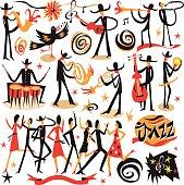 jazz musicians - icons set