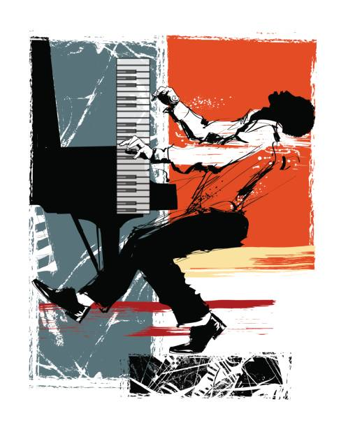 Best Piano Player Illustrations, Royalty-Free Vector ...