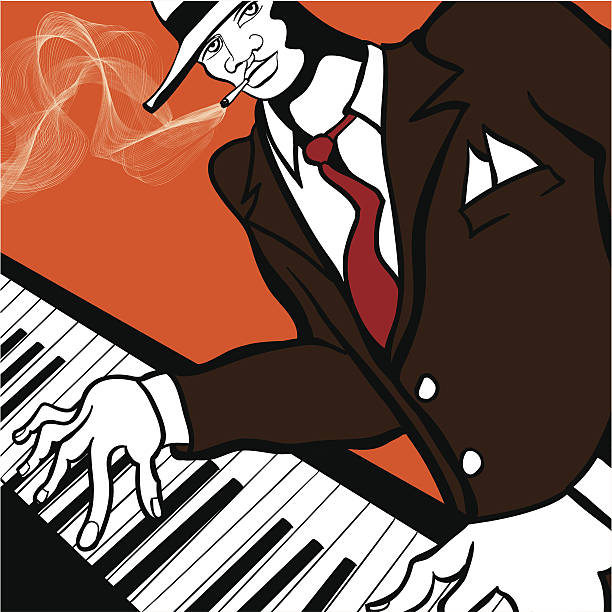 soul music jazz clip vector piano illustrations player similar istock