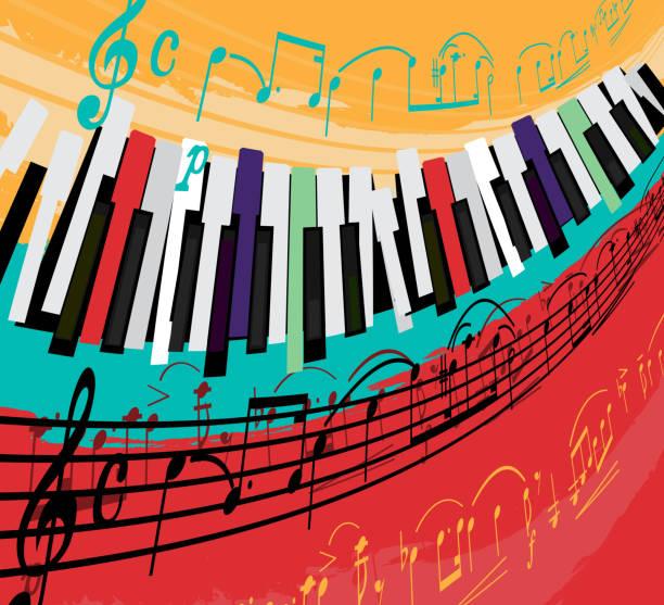 jazz poster background - jazz stock illustrations