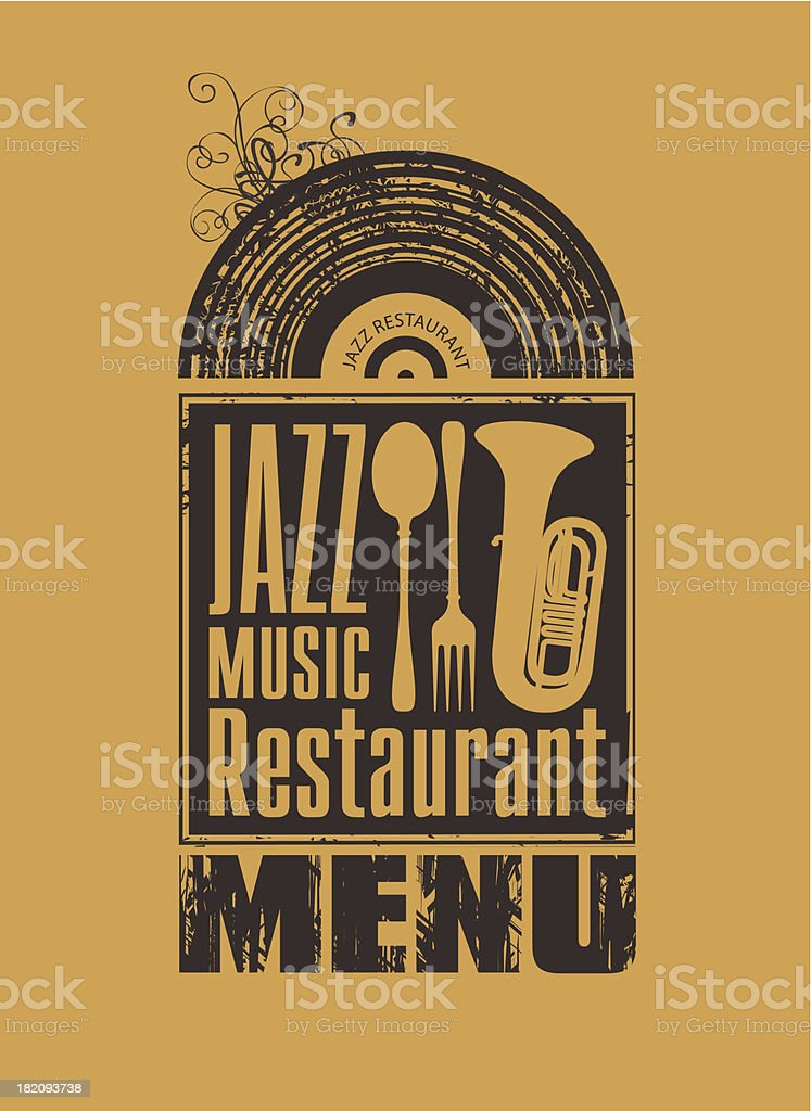 jazz restaurant royalty-free stock vector art