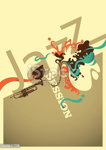 istock Jazz session poster design with abstraction. 468641226