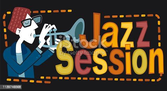 istock Jazz session, trumpet 1139746568