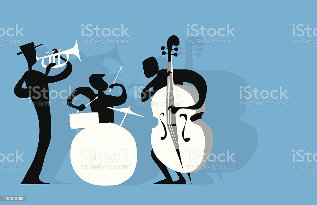 Jazz Trio vector art illustration